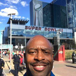Leland_Melvin at Superbowl