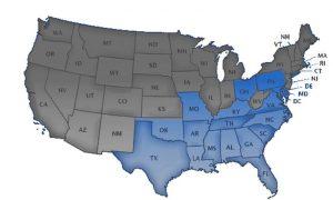 HBCU map