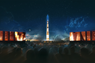 Don't miss the Saturn V rocket on the Washington Monument #Apollo50th anniversary