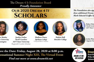 Dream Foundation Awards A Record $23,000.00 in Scholarships and Honors Community Inspirations