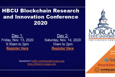 HBCU Blockchain Research and Innovation Conference, November 13-14