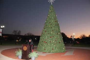 Christmas tree lights up Alabama A&M campus